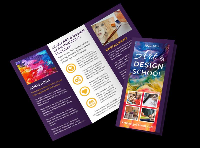 Art & Design School Brochure Template Preview 1