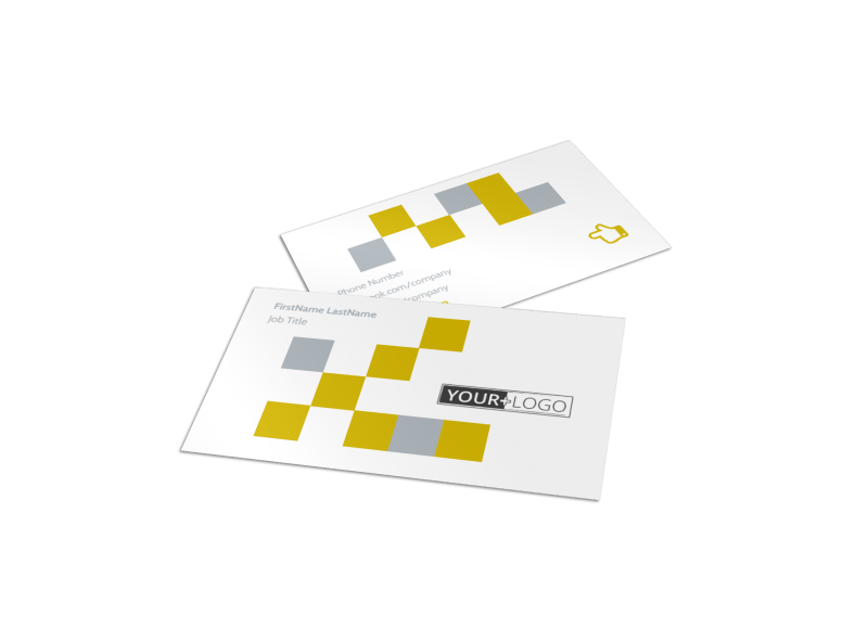 Commercial Construction Business Card Template Preview 1