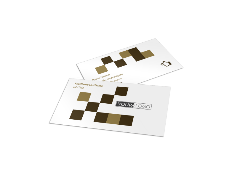 Seed Technology Business Card Template Preview 1