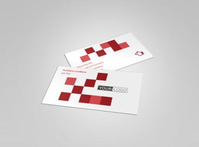 Art & Design School Business Card Template preview