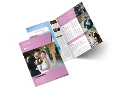 Wedding Service Venue Bi-Fold Brochure Template 2
