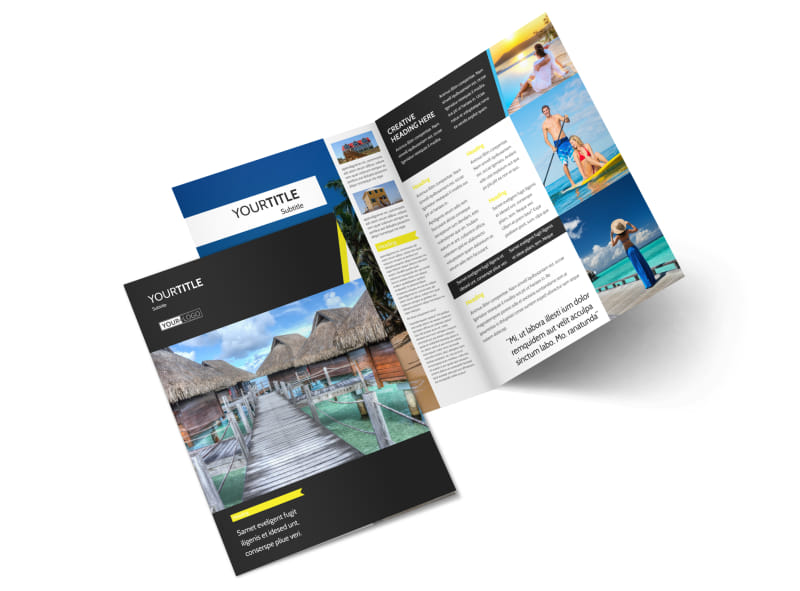 Tropical Villa Rentals Bi-Fold Brochure Template 2