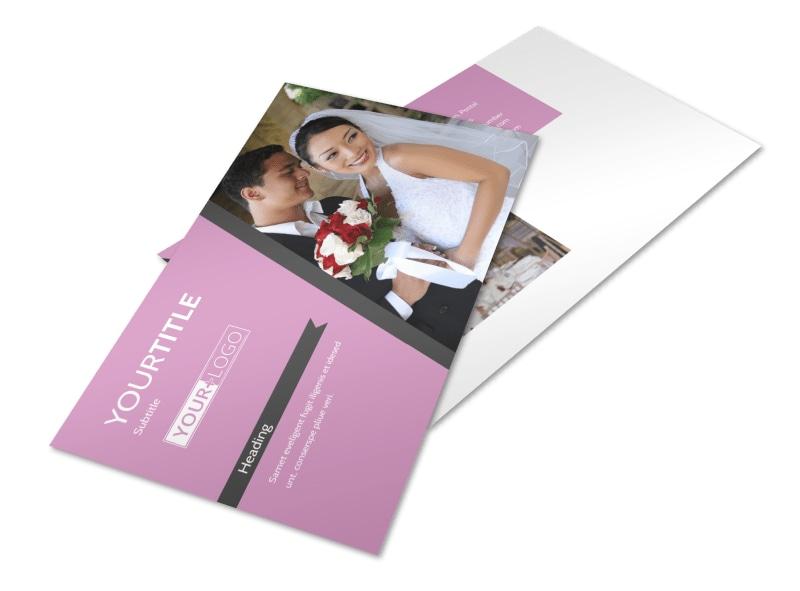 Wedding Service Venue Postcard Template 2