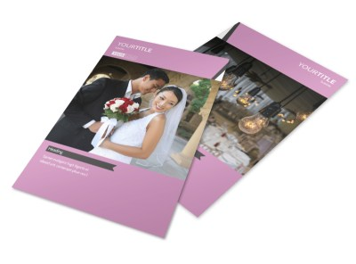 Wedding Service Venue Flyer Template 3 preview