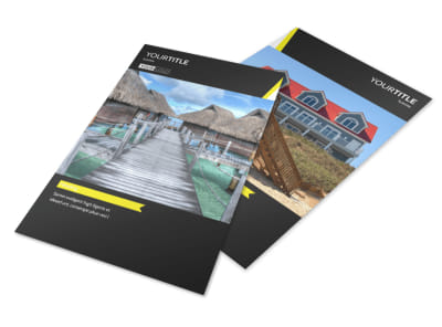 Tropical Villa Rentals Flyer Template 3