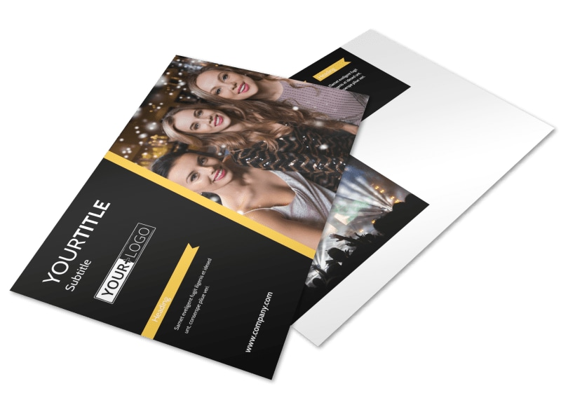Night Club & Lounge Postcard Template Preview 4