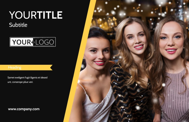 Night Club & Lounge Postcard Template Preview 2