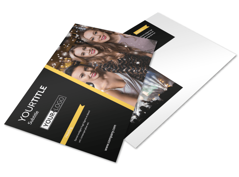 Night Club & Lounge Postcard Template Preview 1