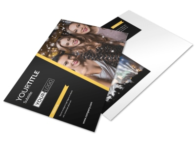 Night Club & Lounge Postcard Template preview