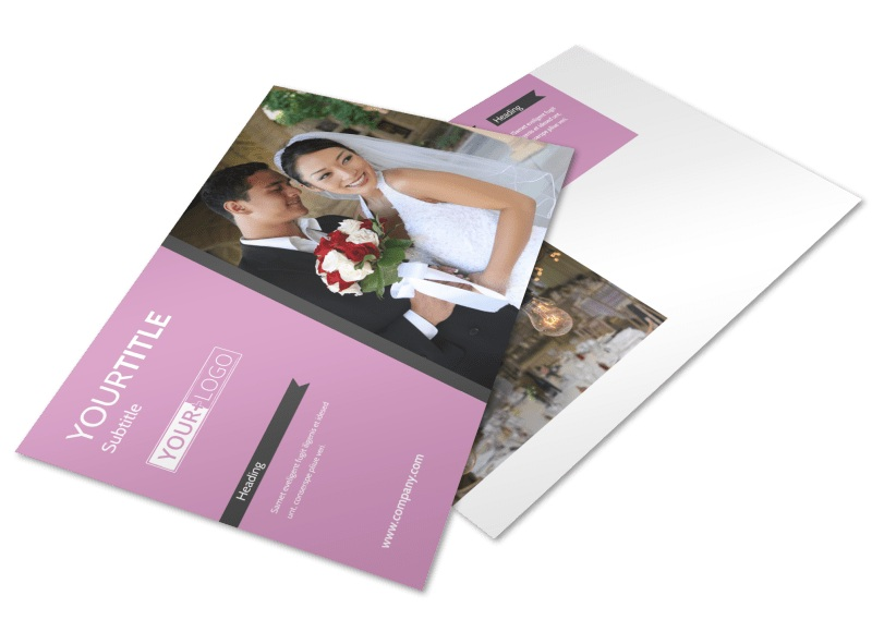 Wedding Service Venue Postcard Template