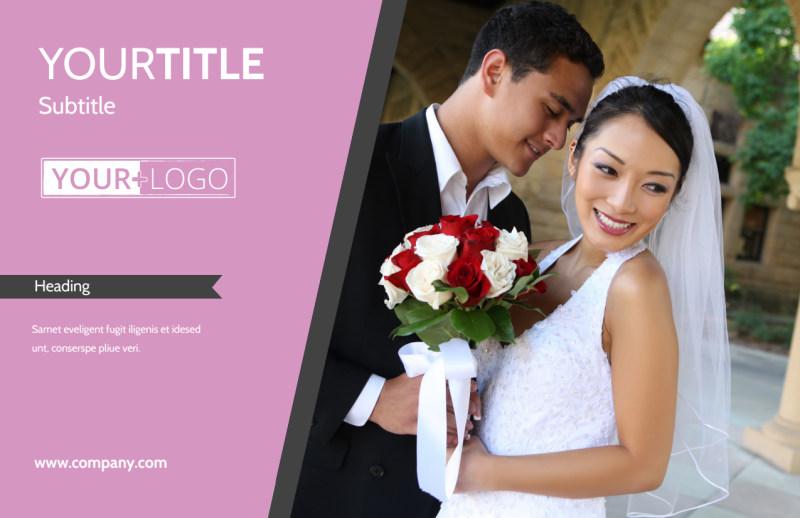 Wedding Service Venue Postcard Template Preview 2