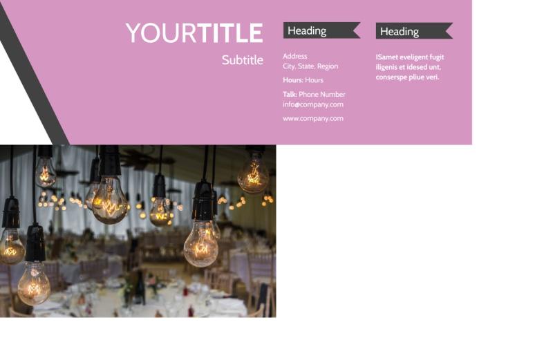 Wedding Service Venue Postcard Template Preview 3
