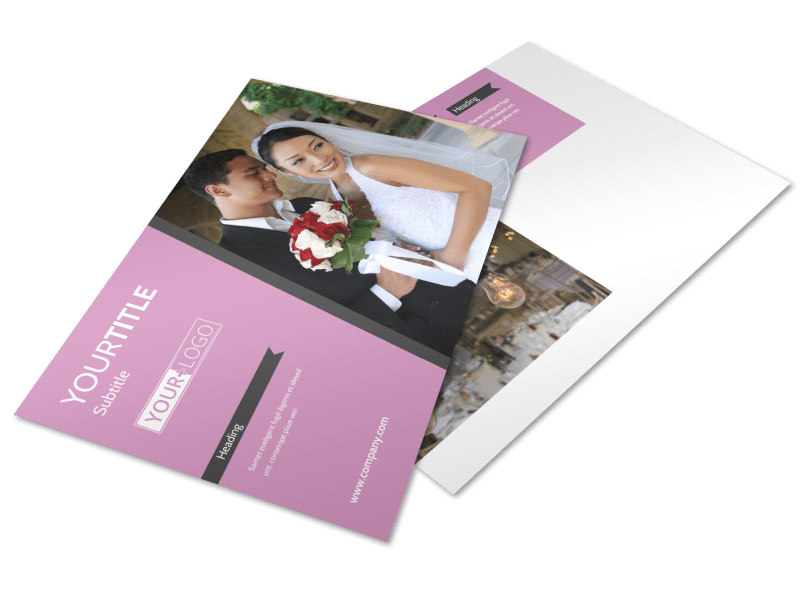 Wedding Service Venue Postcard Template Preview 1