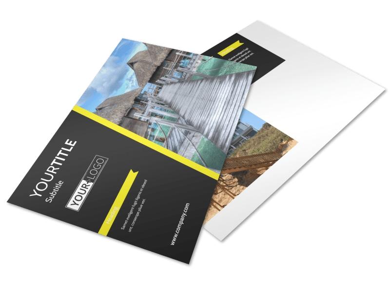 Tropical Villa Rentals Postcard Template