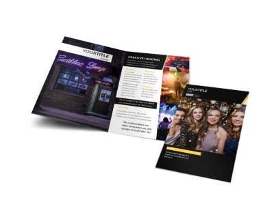 Night Club & Lounge Bi-Fold Brochure Template preview