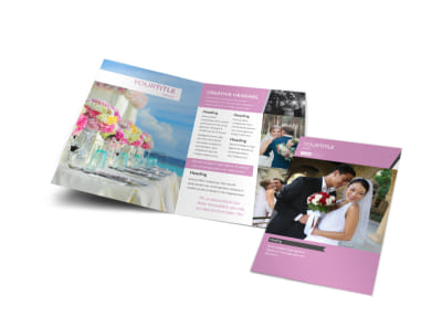 Wedding Service Venue Bi-Fold Brochure Template preview