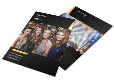 Night Club & Lounge Flyer Template preview