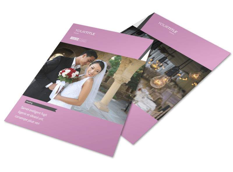 Wedding Service Venue Flyer Template Preview 1