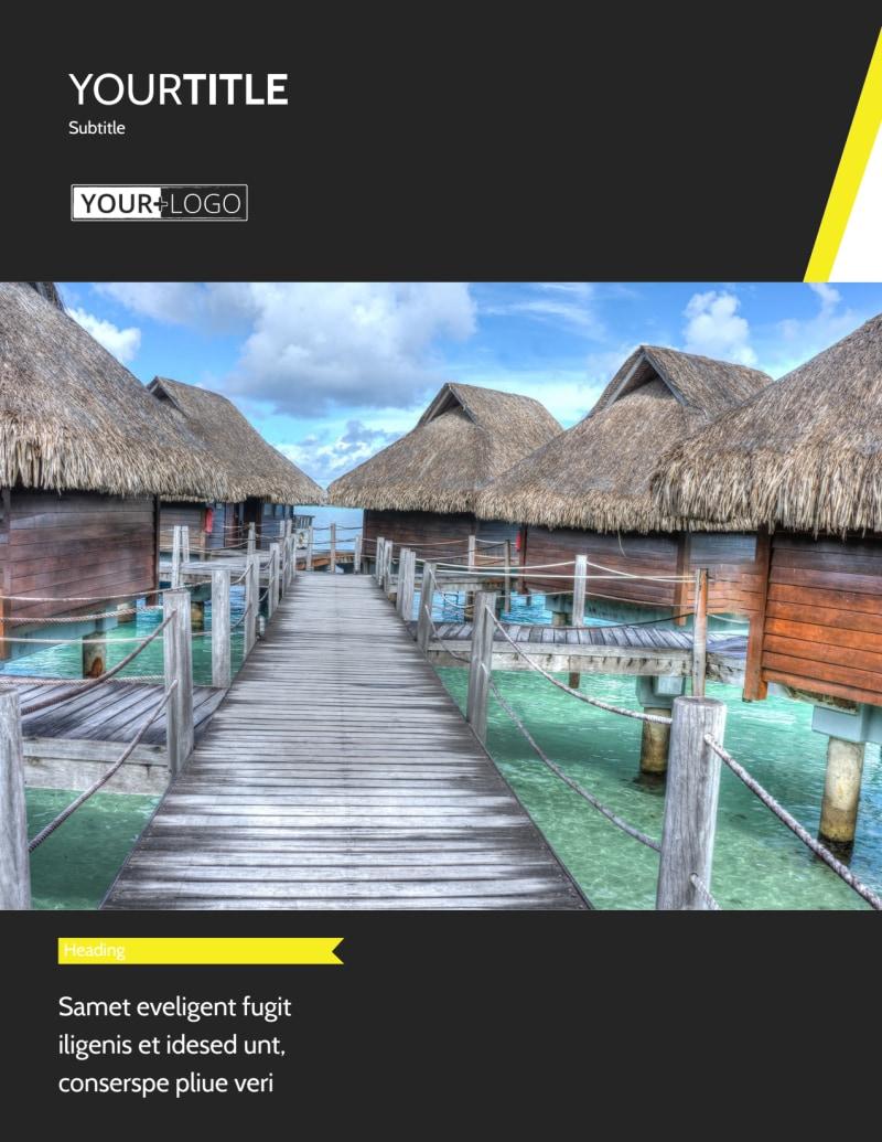 Tropical Villa Rentals Flyer Template Preview 2