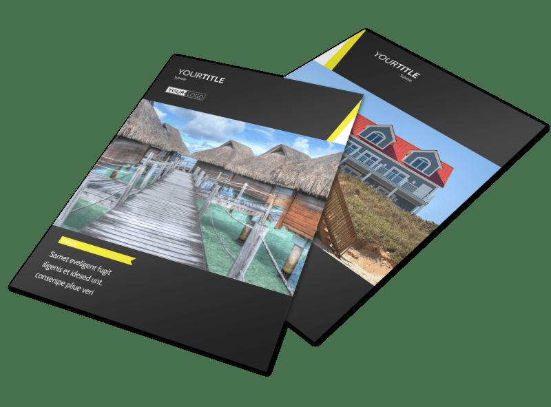 Tropical Villa Rentals Flyer Template Preview 1