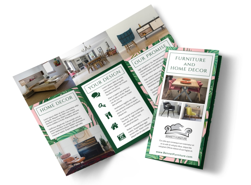 Furniture Decor Brochure Template MyCreativeShop - Trifold brochure template