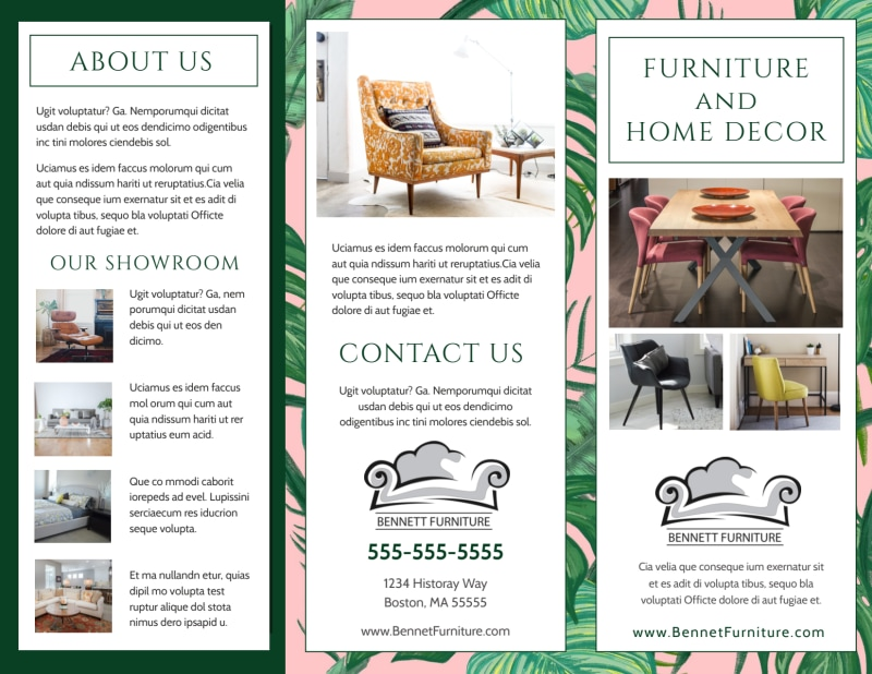 Furniture & Decor Brochure Template Preview 2