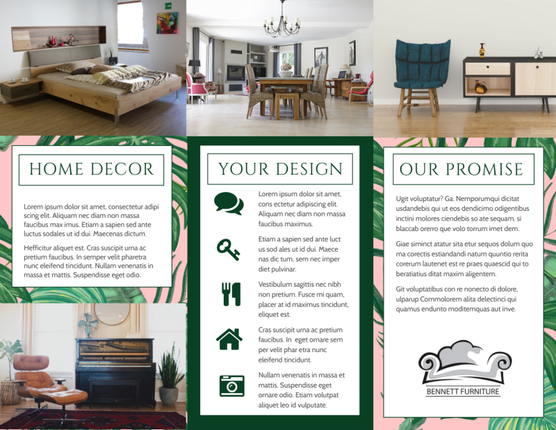 Furniture & Decor Brochure Template Preview 3