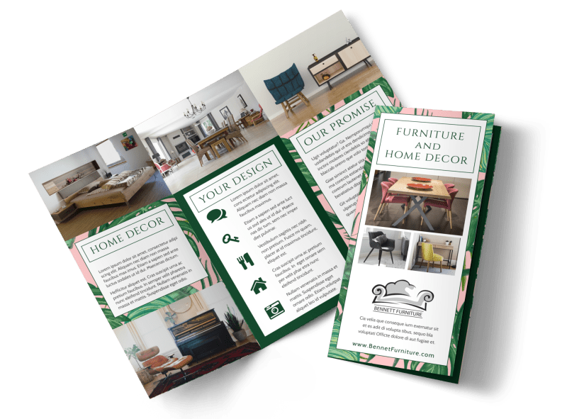 Furniture & Decor Brochure Template Preview 1