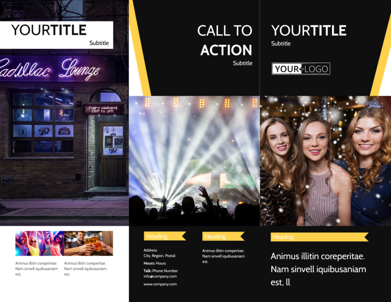 Night Club & Lounge Brochure Template Preview 2