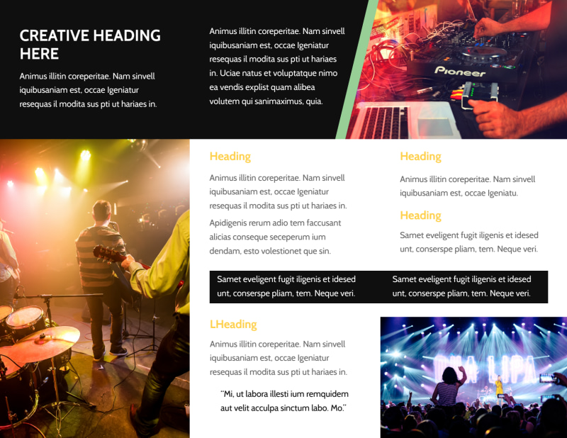 Night Club & Lounge Brochure Template Preview 3