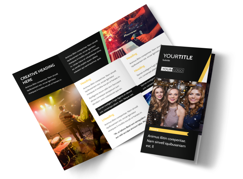 Night Club & Lounge Brochure Template Preview 1