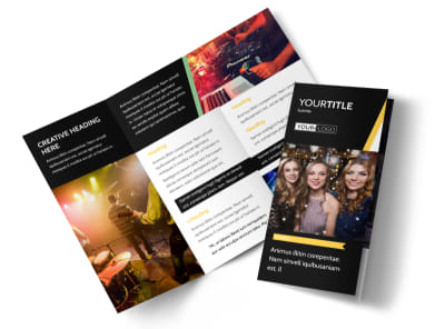 Night Club & Lounge Tri-Fold Brochure Template preview