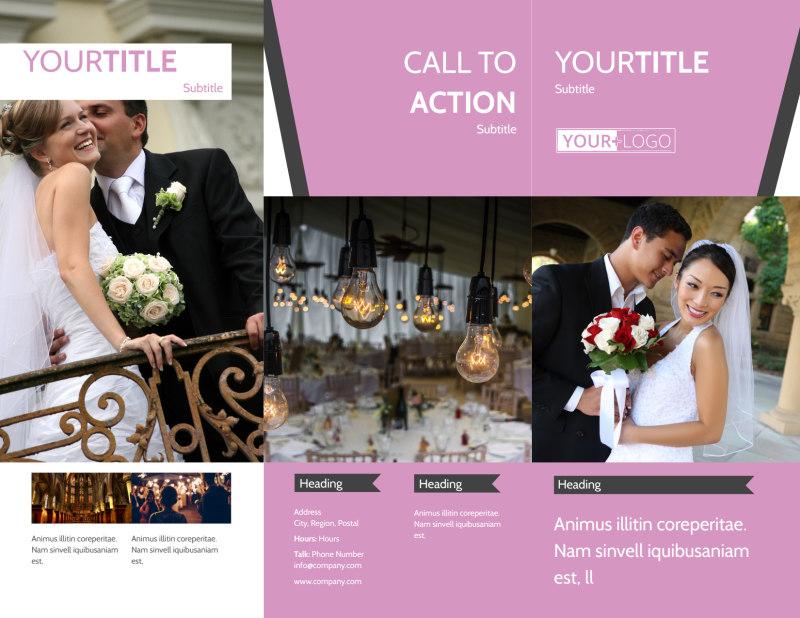 Wedding Service Venue Brochure Template Preview 2