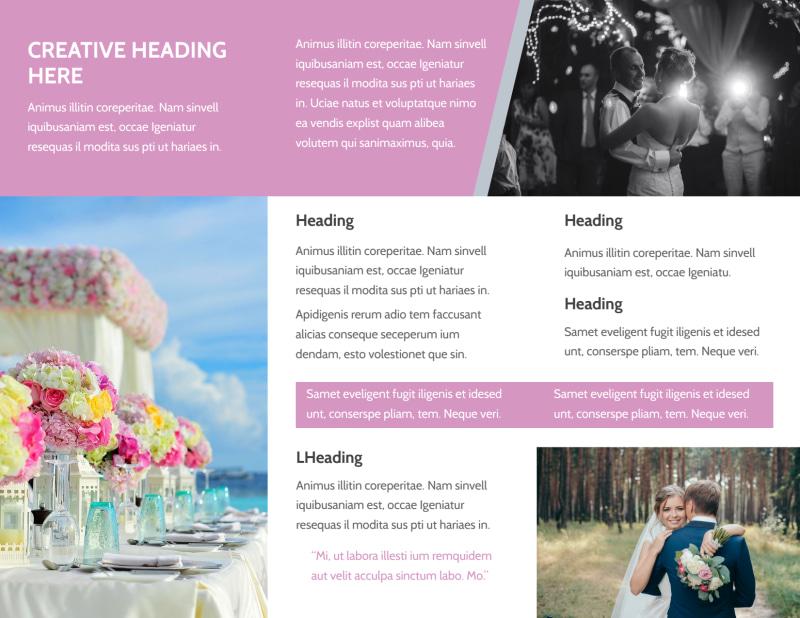 Wedding Service Venue Brochure Template Preview 3