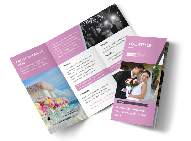 Wedding Service Venue Brochure Template Preview 1