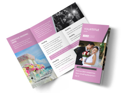 Wedding Service Venue Tri-Fold Brochure Template preview