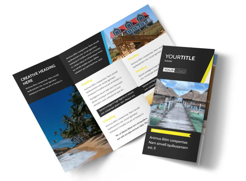 Tropical Villa Rentals Brochure Template Preview 4
