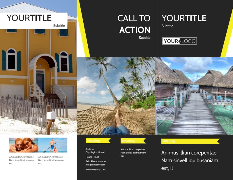 Tropical Villa Rentals Brochure Template Preview 2