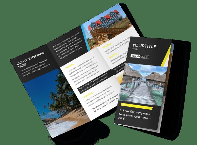 Tropical Villa Rentals Brochure Template Preview 1