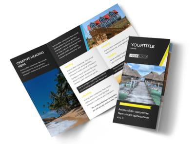 Tropical Villa Rentals Tri-Fold Brochure Template
