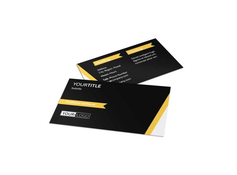 Night Club & Lounge Business Card Template Preview 4