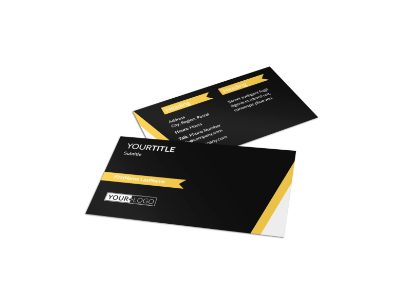 Night Club & Lounge Business Card Template Preview 1