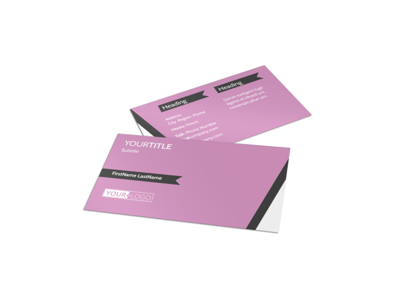 Wedding Service Venue Business Card Template Preview 1