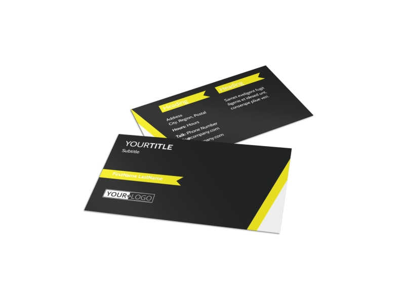 Tropical Villa Rentals Business Card Template