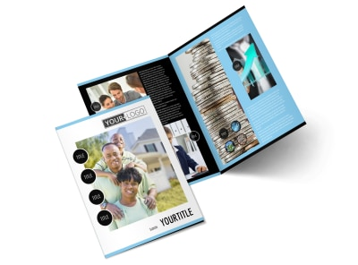 Financial Planner & Consultant Bi-Fold Brochure Template 2