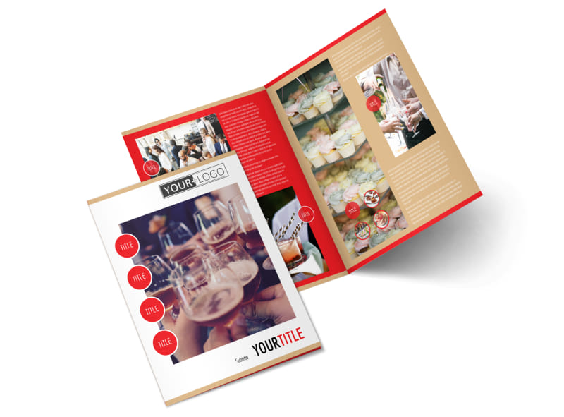 Surprise Office Party Bi-Fold Brochure Template 2