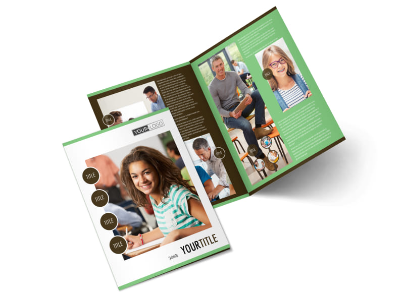 Tutoring Center Bi-Fold Brochure Template 2