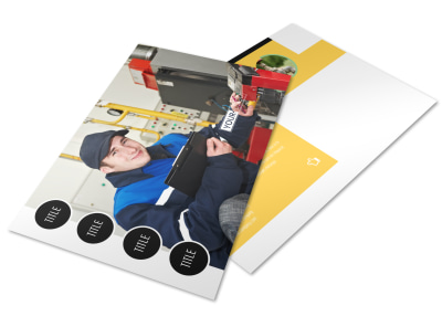 Plumbing Services Postcard Template preview