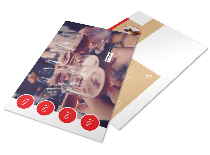 Surprise Office Party Postcard Template Preview 4