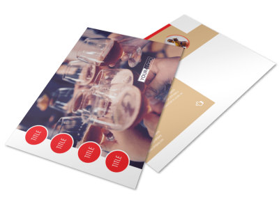 Surprise Office Party Postcard Template preview